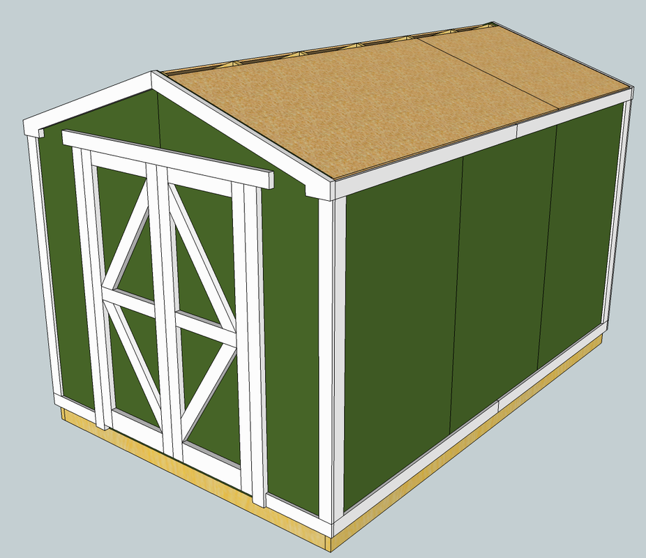8 x 12 Shed / Workshop - Eric\'s Projects